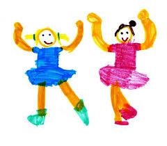 dessin 2 enfants
